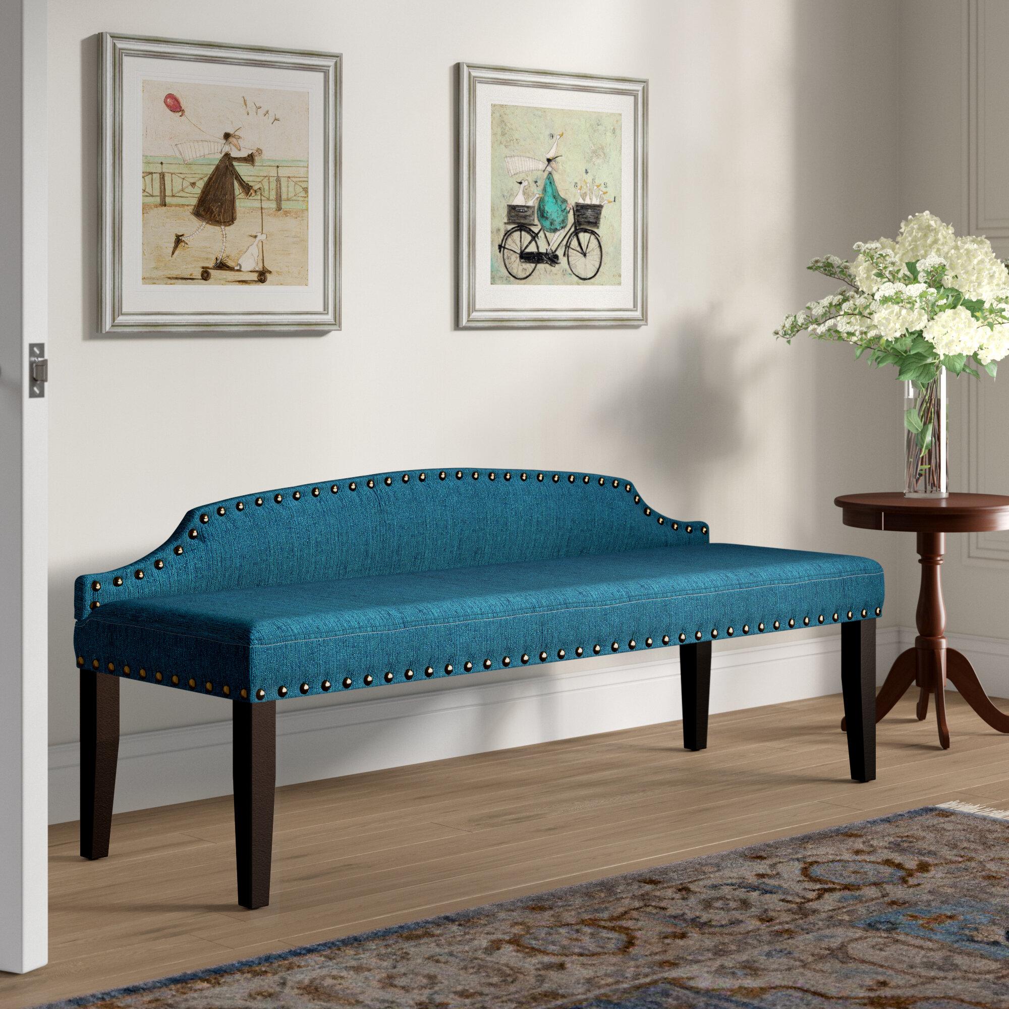 Three Posts Millersburg Upholstered Bench & Reviews | Wayfair