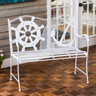 Howell Coastal Metal Garden Bench