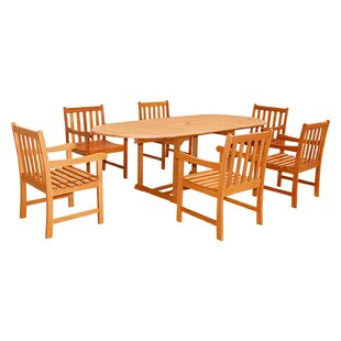 Vifah Five Piece Outdoor Dining Set with Oval Table