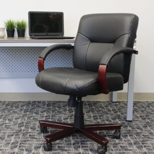 Paramus Genuine Leather Executive Chair by Symple Stuff Best Choices