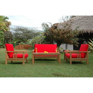 South Bay 5 Piece Teak Sofa Seating Group with Sunbrella Cushions by Anderson Teak