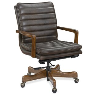 Langston Home Genuine Leather Conference Chair