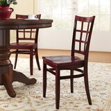 Beechwood Lattice Back Seat Solid Wood Dining Chair by Regal