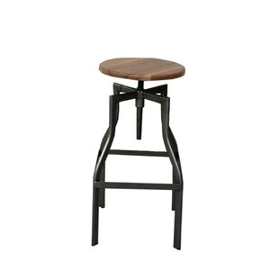 Abigayle Swivel Solid Wood Adjustable Height Bar Stool by Foundry Select