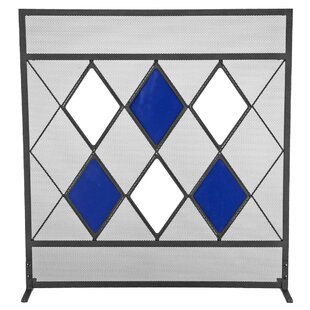 Harlequin Single Panel Steel Fireplace Screen By Symple Stuff