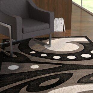 Best Reviews Hector Black Area Rug ByEbern Designs