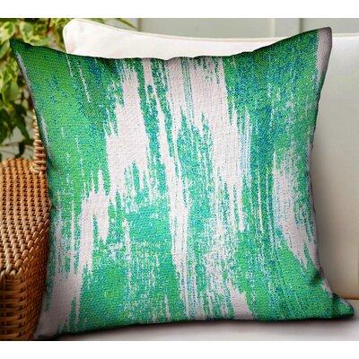 Huey Ikat Luxury Indoor/Outdoor Throw Pillow by Wrought Studio 2020 Sale