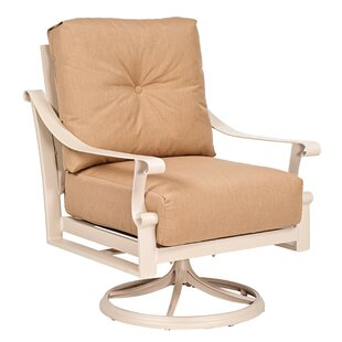 Bungalow Cushion Swivel Rocking Dining Chair