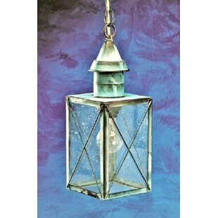 Tobias 1-Light Outdoor Hanging Lantern By Breakwater Bay Outdoor Lighting