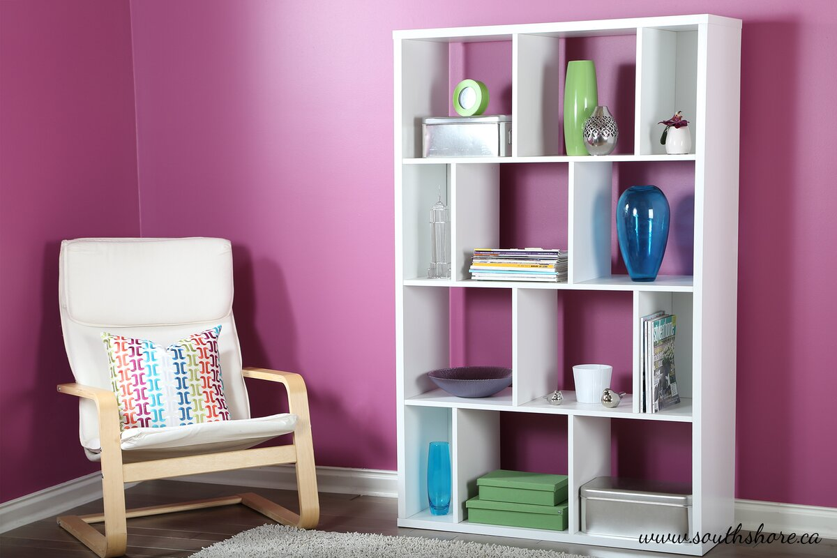 boyd bookcase pink product glass rubylite chairish