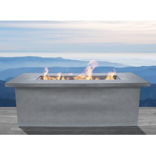 Santiago Cast Concrete Propane/Natural Gas Fire Pit Table