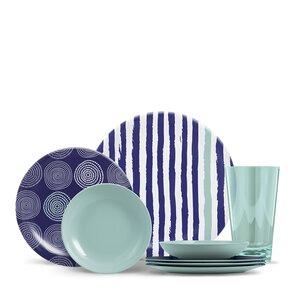 Ingrassia 16 Piece Melamine Dinnerware Set, Service for 4