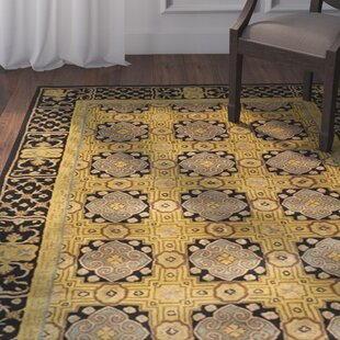 Price comparison Carnasheeran Hand-Tufted Wool Gold/Black Area Rug ByAstoria Grand