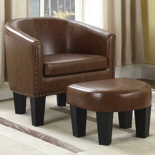 Mohamud Barrel Chair and Ottoman By Gracie Oaks