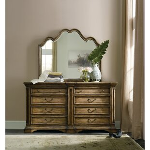 Auberose 8 Drawer Double Dresser with Mirror