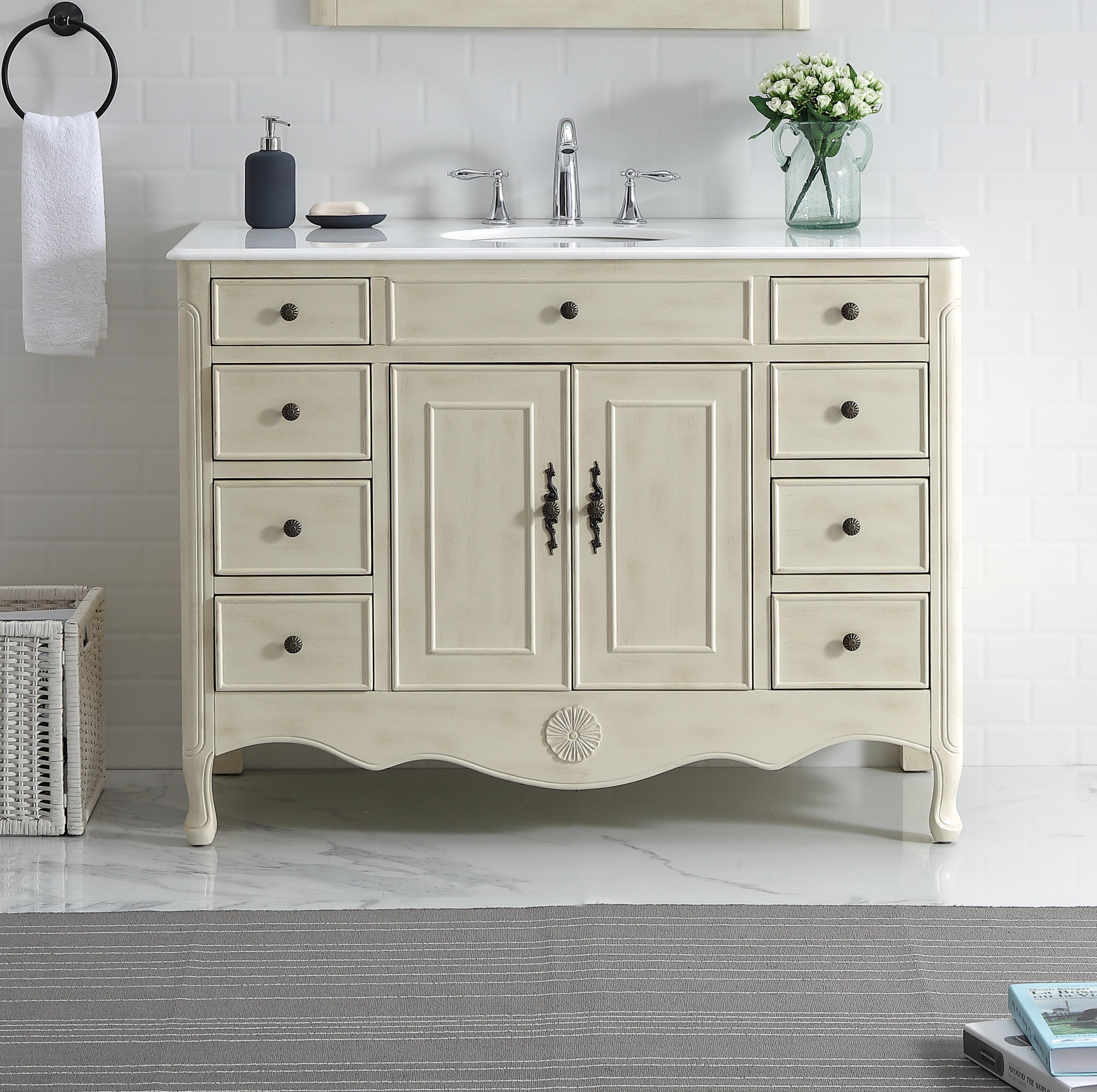 One Allium Way Genevieve 47 Single Bathroom Vanity Set Reviews Wayfair