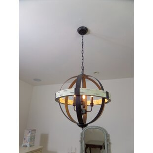 Gracie Oaks Manelle 4-Light Globe Chandelier