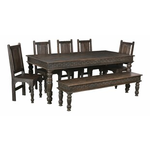 Lorelai Wood Carved Dining Bench