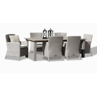 Manhattan 7 Piece Dining Set with Cushions by Sunset West