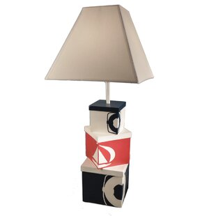 Shopping for Ocallaghan Stacked Nautical Boxes 27 Table Lamp By Breakwater Bay