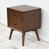 Houston Mid Century 2 Drawer Nightstand by Union Rustic