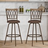 Brianah Swivel Adjustable Height Stool (Set of 2) by Winston Porter