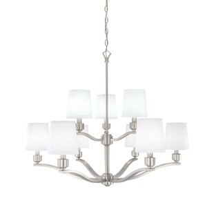 Charlton Home Shaun 9-Light Shaded Chandelier