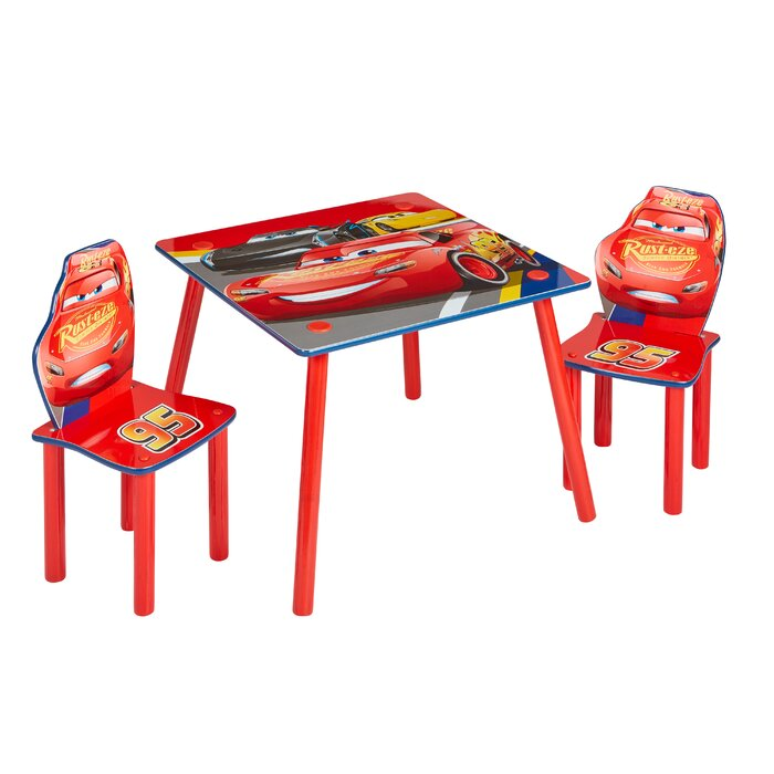 Outstanding Disney Cars Childrens 3 Piece Table And Chair Set Pdpeps Interior Chair Design Pdpepsorg