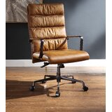 Brockett Genuine Leather Conference Chair