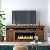 Kromer TV Stand for TVs up to 88 with Electric Fireplace Included by Canora Grey