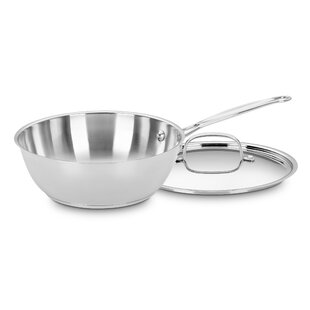 Chefs 3 qt. Stainless Steel Saucier with Lid