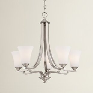 Alcott Hill Oakside 5-Light Shaded Chandelier