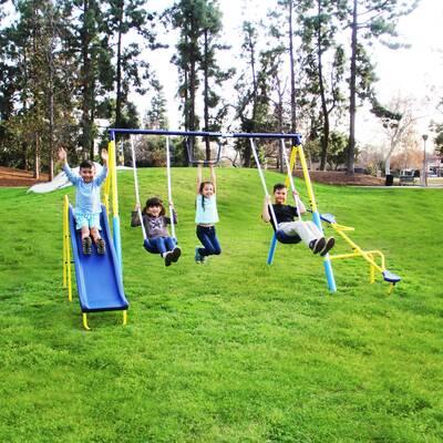 Flexible Flyer Swing N Glide Gym Swing Set Reviews Wayfair