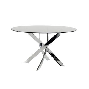 Camron Modern Glass Top Dining Table by O..