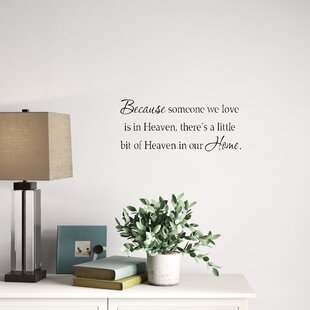 Because someone We Love is in Heaven Decal Funeral Gifts Heaven Wall Decal In Memory Of Gift idea Remembrance Gift Family Wall Decal