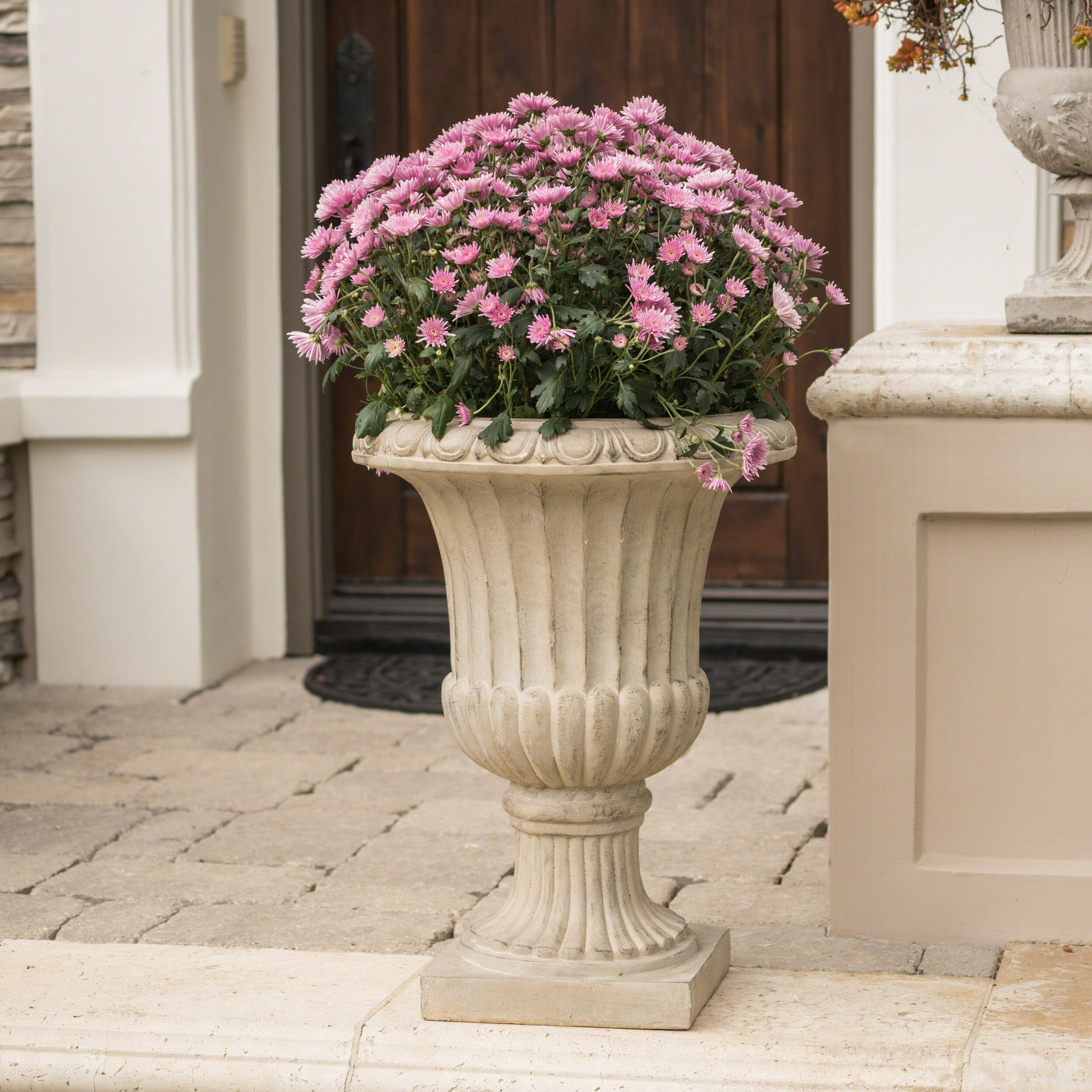 outdoor reviews planter pdp ribbed urn resin ca wayfair classic amedeo stone design