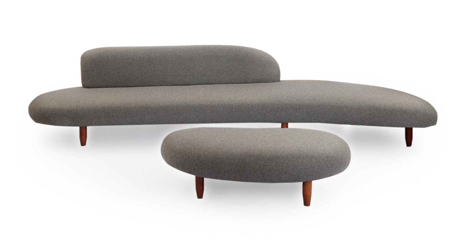 Charmant Potvin Mid Century Modern Sofa And Ottoman Set