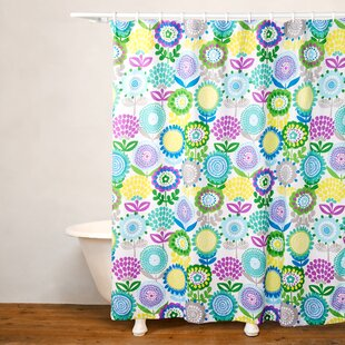 Reviews Pointillist Pansy Shower Curtain By Crayola LLC