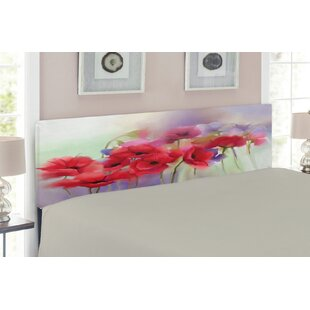Flower Upholstered Panel Headboard by East Urban Home