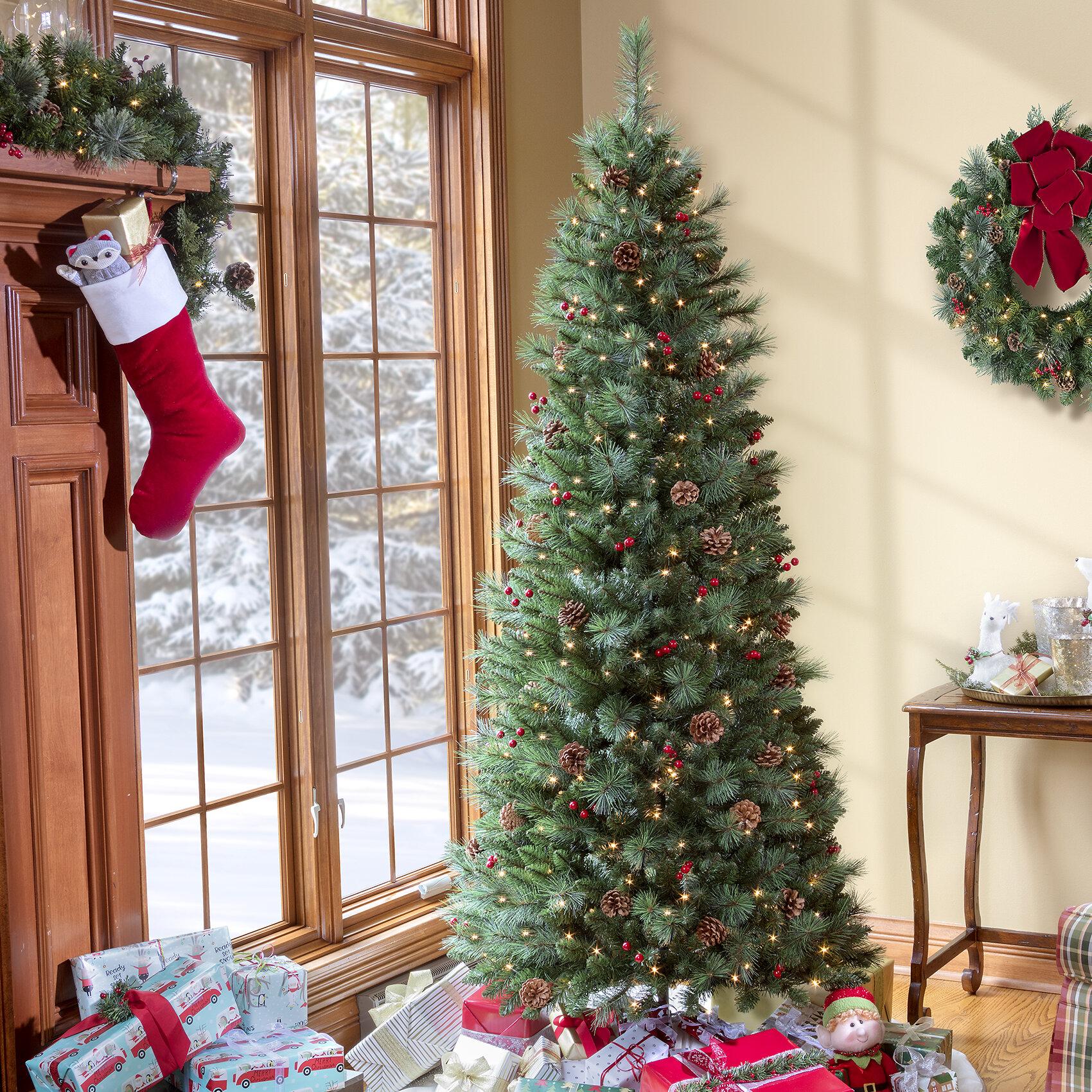 Haute Decor Newbury Easy Stow 6 5 Green Pine Artificial Christmas Tree 300 Warm White Lights Reviews Wayfair