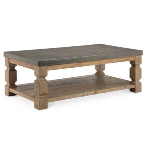 Avis Rectangle Concrete/Wood Coffee Table by..
