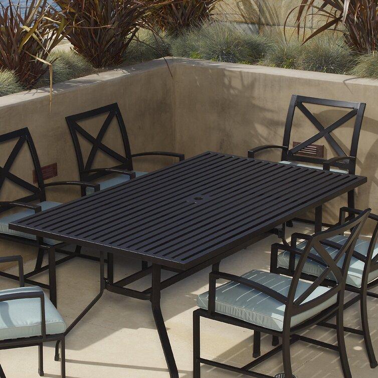 Sunset West La Jolla Rectangular Dining Table Reviews Wayfair - La jolla patio furniture