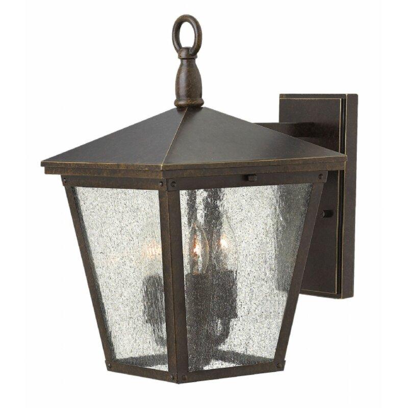 Red Barrel Studio Habgood 3 Light Outdoor Wall Lantern Wayfair