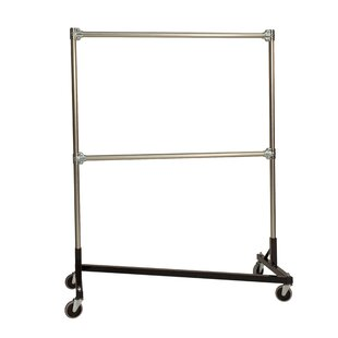 Top Reviews 51 W Heavy Duty Double Rail Garment Rack By Quality Fabricators