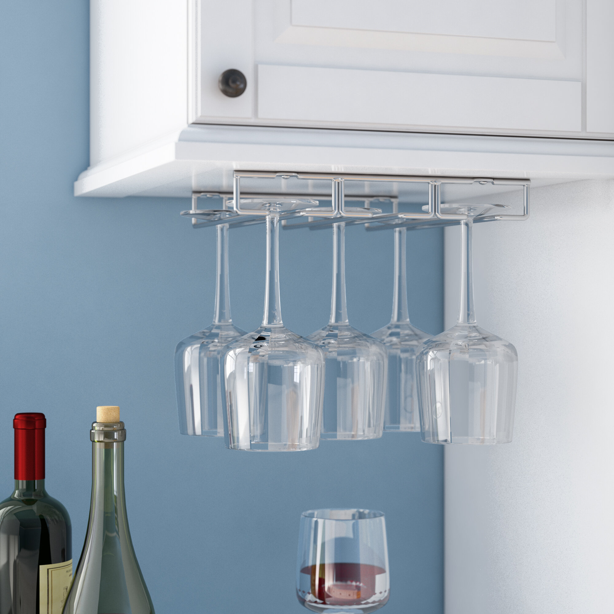 Rebrilliant Under Hanging Wine Glass Rack & Reviews | Wayfair