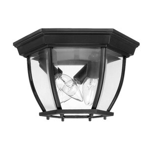 Charlton Home Whaley 3-Light Outdoor Flush Mount