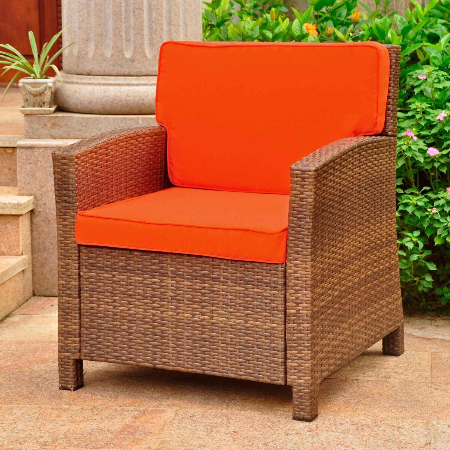 Stapleton Wicker Resin Patio Chair