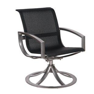Metropolis Sling Swivel Patio Dining Chair by Woodard