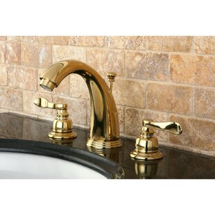 Kingston Brass NuWave French Widespread Bathroom Faucet with Drain Assembly