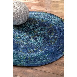 Brennen Blue Area Rug by Bungalow Rose